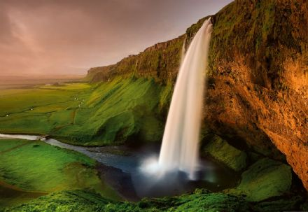 Photo wallpaper Waterfall In Iceland